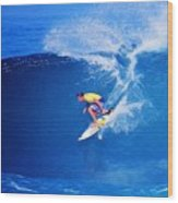 Surfer Mitch Crews Wood Print