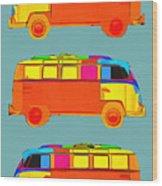 Surfer Vans Wood Print