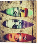 Surfers Parade Wood Print