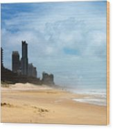 Surfers Paradise On A Stormy Day Wood Print