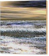Surfer's Sunset Wood Print