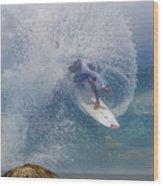 Surfin The Sky 01 Wood Print