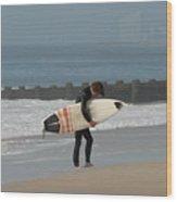 Surfing 116 Wood Print