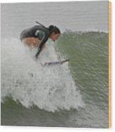 Surfing 170 Wood Print