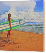 Surfing 19518 Wood Print