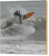 Surfing 57 Wood Print