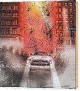 Surfing 5th Avenue Wood Print by Barry C Donovan