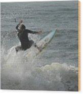 Surfing 65 Wood Print