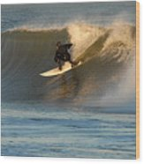 Surfing 80 Wood Print
