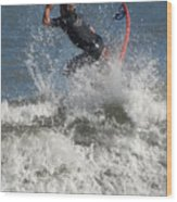 Surfing 92 Wood Print