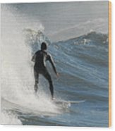 Surfing 93 Wood Print