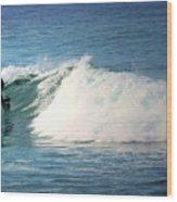 Surfing Asilomar Wood Print