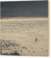 Surfing At Leo Carrillo Beach Wood Print