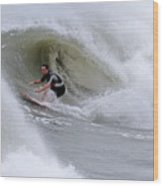 Surfing Bogue Banks 1 Wood Print