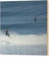 Surfing Carmel Beach Two Wood Print