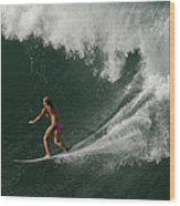 Surfing Hawaii 2 Wood Print