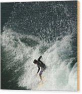 Surfing Hawaii 4 Wood Print