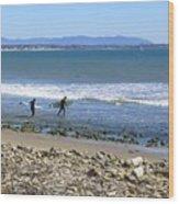 Surfing In Ventura Ca Wood Print