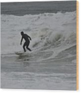 Surfing, N. Hampton Nh Wood Print