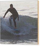Surfing Narragansett Wood Print