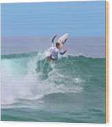 Surfing Panorama Wood Print