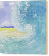 Surfing Time Wood Print