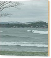 Surfing Waves Wood Print