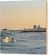 Surf's Up Wood Print by Arthur Herold Jr
