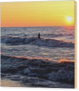Surf's Up Grand Bend Wood Print