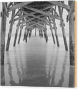 Surfside Pier Exposure Wood Print