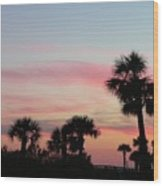 Surfside Sunset Wood Print