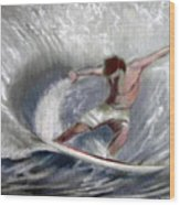 Surf'sup Wood Print