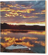 Surise On Lake Powell Wood Print