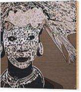 Surma Girl Wood Print