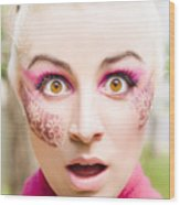 Surprised Face Wood Print