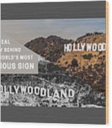 Surprising Facts Of Hollywood Sign Wood Print