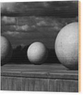 Surreal Globes Wood Print