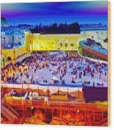 Surreal Jerusalem Art Wood Print