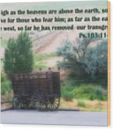 Surreal Old Wagon Ps.103 V 11-12 Wood Print by Linda Phelps