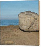 Surreal Rock At Point Loma Wood Print