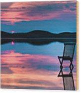 Surreal Sunset Wood Print by Gert Lavsen