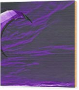 Surreal Surfing Purple Wood Print