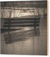 Surrender Wood Print by Cathy  Beharriell