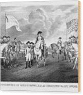 Surrender Of Lord Cornwallis At Yorktown Wood Print