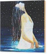 Surrender Wood Print by NARI - Mother Earth Spirit