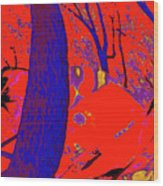 Surrounded 6 Wood Print