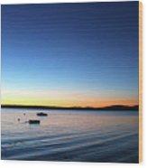 Surry, Sunrise Wood Print