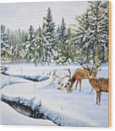 Surviving The Winters Wood Print