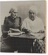 Susan B. Anthony And Elizabeth Cady Wood Print