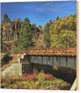 Susan River Bridge On The Bizz Wood Print